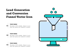 Lead Generation And Conversion Funnel Vector Icon Ppt PowerPoint Presentation File Tips PDF