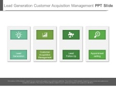Lead Generation Customer Acquisition Management Ppt Slide