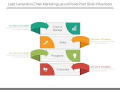 Lead Generation Email Marketing Layout Powerpoint Slide Influencers
