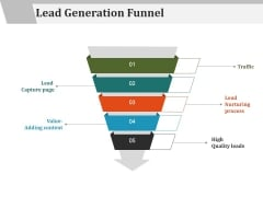 Lead Generation Funnel Ppt PowerPoint Presentation Gallery Designs