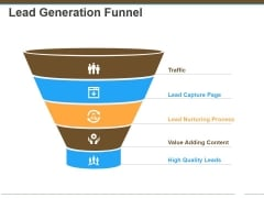 Lead Generation Funnel Ppt Powerpoint Presentation Infographic Template Icons