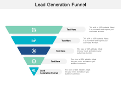 Lead Generation Funnel Ppt PowerPoint Presentation Infographics Inspiration Cpb