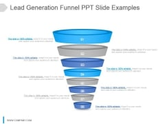 Lead Generation Funnel Ppt Slide Examples