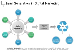 Lead Generation In Digital Marketing Ppt PowerPoint Presentation Model Microsoft