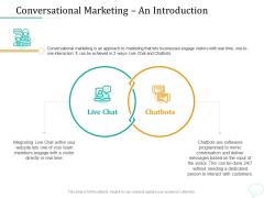 Lead Generation Initiatives Through Chatbots Conversational Marketing An Introduction Slides PDF