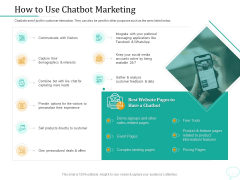 Lead Generation Initiatives Through Chatbots How To Use Chatbot Marketing Clipart PDF