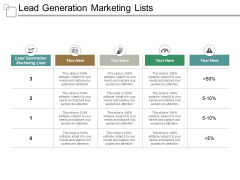 Lead Generation Marketing Lists Ppt PowerPoint Presentation Model Outline Cpb