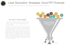 Lead Generation Strategies Good Ppt Example