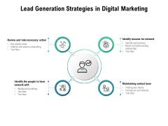 Lead Generation Strategies In Digital Marketing Ppt PowerPoint Presentation Outline Diagrams