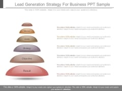 Lead Generation Strategy For Business Ppt Sample