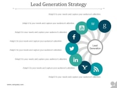 Lead Generation Strategy Ppt PowerPoint Presentation Ideas