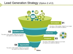 Lead Generation Strategy Template 2 Ppt PowerPoint Presentation Infographic Template Format Ideas