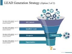 Lead Generation Strategy Template 2 Ppt PowerPoint Presentation Infographics Model