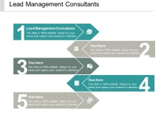 Lead Management Consultants Ppt PowerPoint Presentation Outline Graphics Template Cpb