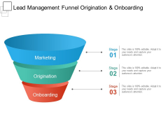 Lead Management Funnel Origination And Onboarding Ppt PowerPoint Presentation Ideas Elements