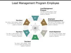 Lead Management Program Employee Communications Firm Goals Objectives Ppt PowerPoint Presentation Slides Infographic Template