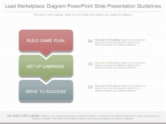 Lead Marketplace Diagram Powerpoint Slide Presentation Guidelines