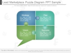 Lead Marketplace Puzzle Diagram Ppt Sample