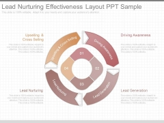 Lead Nurturing Effectiveness Layout Ppt Sample