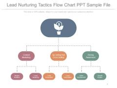 Lead Nurturing Tactics Flow Chart Ppt Sample File