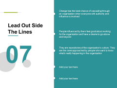 Lead Out Side The Lines Ppt PowerPoint Presentation Visual Aids Ideas
