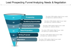 Lead Prospecting Funnel Analyzing Needs And Negotiation Ppt PowerPoint Presentation Infographic Template Microsoft