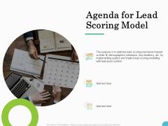Lead Ranking Sales Methodology Model Agenda For Lead Scoring Model Ppt PowerPoint Presentation Infographic Template Skills PDF
