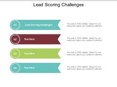 Lead Scoring Challenges Ppt PowerPoint Presentation Infographic Template Samples Cpb
