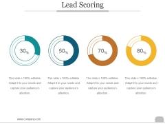 Lead Scoring Template Ppt PowerPoint Presentation Model