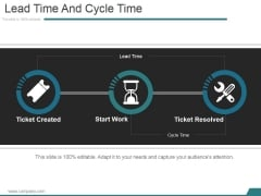 Lead Time And Cycle Time Ppt PowerPoint Presentation Guide