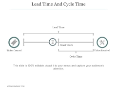Lead Time And Cycle Time Ppt PowerPoint Presentation Summary