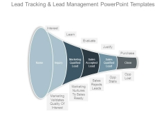 Lead Tracking And Lead Management Powerpoint Templates