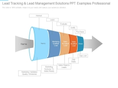 Lead Tracking And Lead Management Solutions Ppt Examples Professional