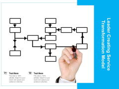 Leader Creating Service Transformation Model Ppt PowerPoint Presentation Layouts Graphic Tips PDF
