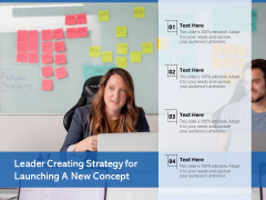 Leader Creating Strategy For Launching A New Concept Ppt PowerPoint Presentation Professional Slides PDF