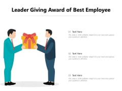 Leader Giving Award Of Best Employee Ppt PowerPoint Presentation Gallery Graphic Images PDF