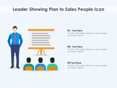Leader Showing Plan To Sales People Icon Ppt PowerPoint Presentation File Images PDF