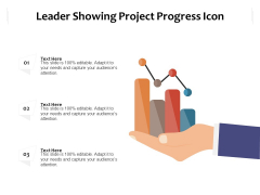 Leader Showing Project Progress Icon Ppt PowerPoint Presentation Icon Infographic Template PDF