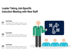 Leader Taking Job Specific Induction Meeting With New Staff Ppt PowerPoint Presentation File Graphics Example PDF