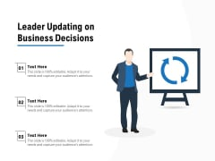 Leader Updating On Business Decisions Ppt PowerPoint Presentation Model Influencers PDF