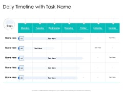 Leader Vs Administrators Daily Timeline With Task Name Rules PDF