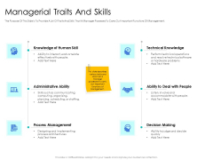 Leader Vs Administrators Managerial Traits And Skills Ppt File Background Designs PDF