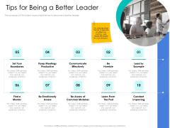 Leader Vs Administrators Tips For Being A Better Leader Background PDF