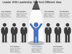 Leader With Leadership Skill And Different Idea Powerpoint Template