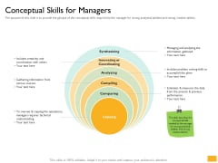 Leaders Vs Managers Conceptual Skills For Managers Ppt File Visuals PDF