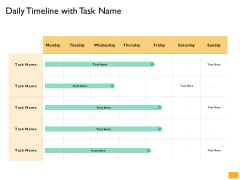 Leaders Vs Managers Daily Timeline With Task Name Ppt File Tips PDF