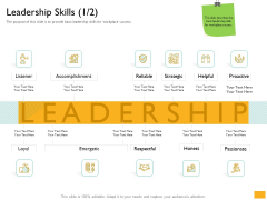 Leaders Vs Managers Leadership Skills Ppt Inspiration Example File PDF