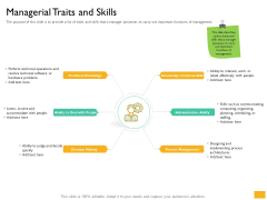 Leaders Vs Managers Managerial Traits And Skills Ppt Infographics Graphics Tutorials PDF