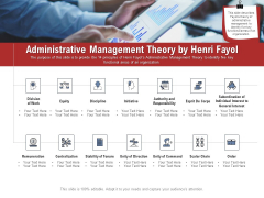 Leadership And Management Administrative Management Theory By Henri Fayol Sample PDF