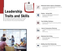 Leadership And Management Leadership Traits And Skills Demonstration PDF